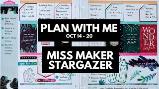 Planner life: miss maker plan with me oct 14 - 20 (the stargazer stickers)