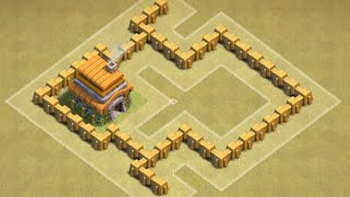 Clash of Clans TH 3 Defence/Cw Base [Points:7,6-10] For TH 3 Top!