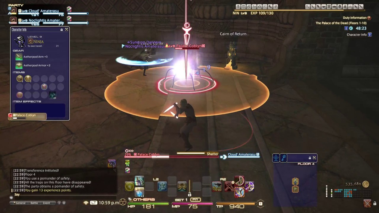 Final Fantasy Xiv Palace Of The Dead 2 Player Co Op Ninjas Floor 1 20 Ps4 Pro 1 Youtube