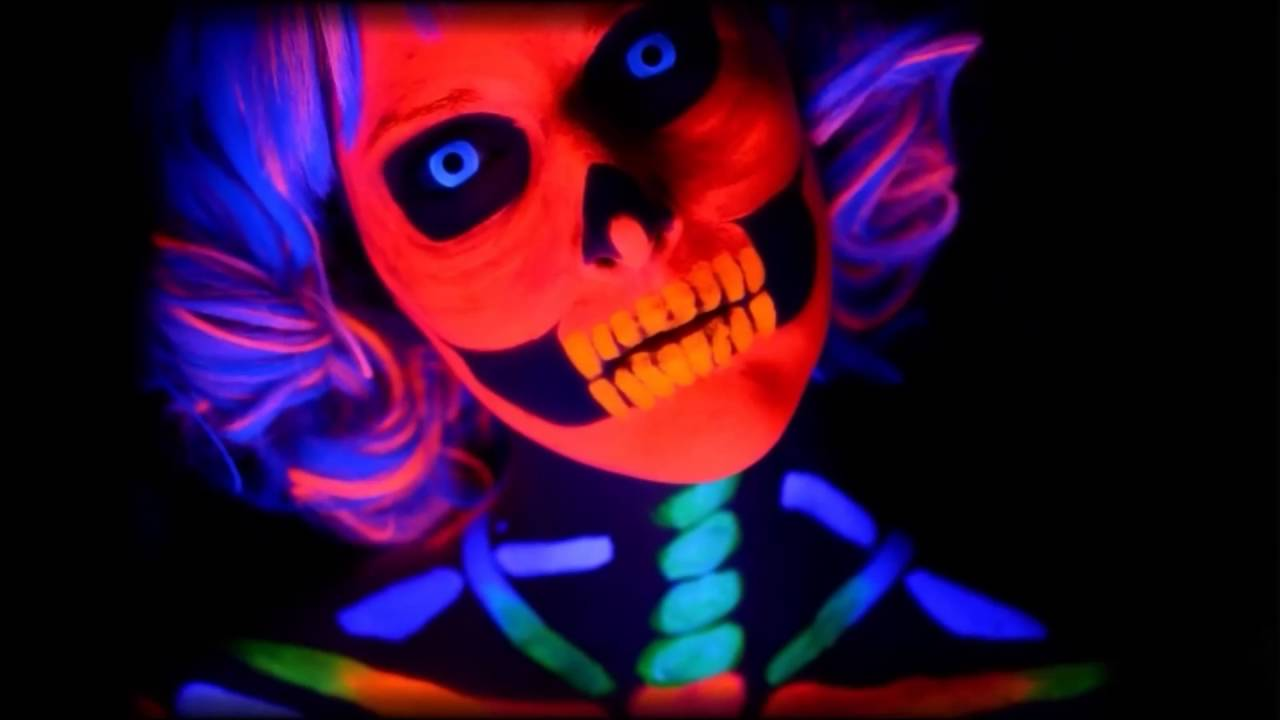 blue uv contact lenses black light contacts youtube