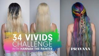 PRAVANA 34 VIVIDS Challenge with Hannah the Painter