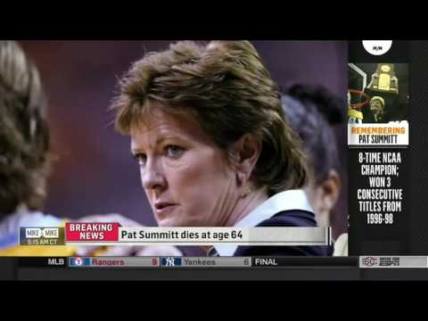 LEGENDARY TENNESSEE COACH PAT SUMMITT DIES AT 64 MIKE & MIKE   ESPN 6 28 2016