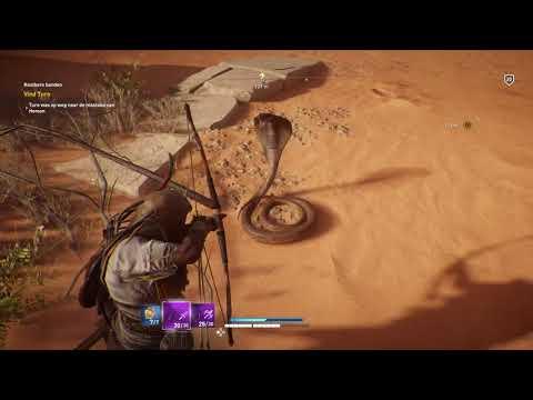 Assassin's Creed® Origins Finding a huge king cobra   snake