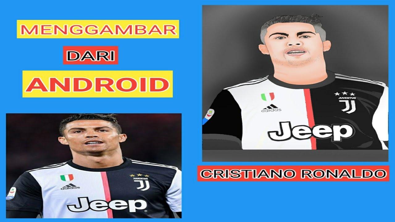CRISTIANO RONALDO Menggambar Keren Hanya Dengan Android