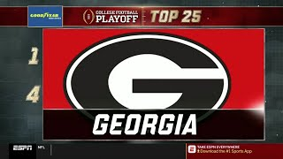 College Football Playoff: Top 25 | (November 13th, 2018)