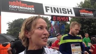 Natasja Crone efter veloverstået Copenhagen Half Marathon 2015