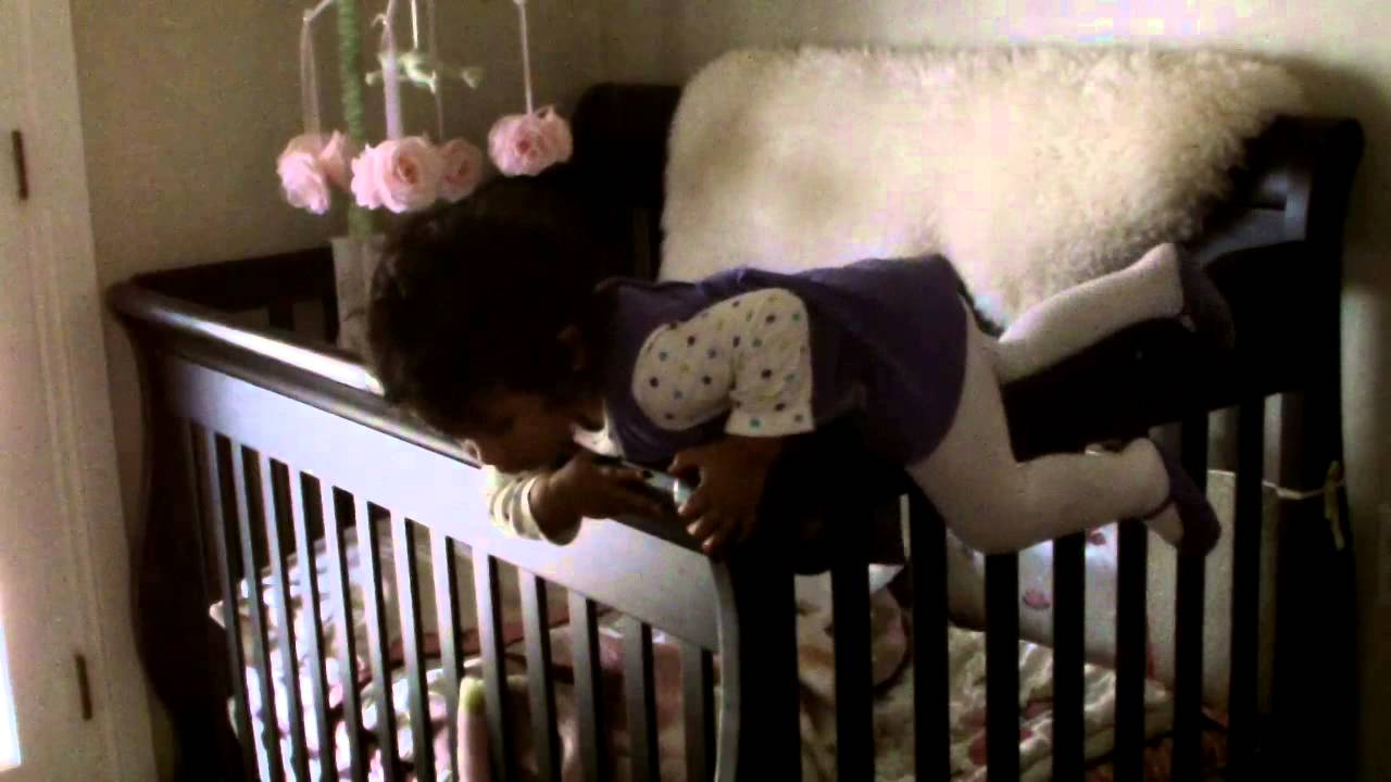 Baby escapes crib youtube - Baby Bella Escapes Crib