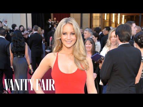 Jennifer Lawrence - The Secret of Her Red Carpet Fashion on Vanity Fair's Red-Carpet Road Trip