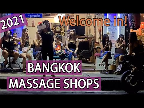Bangkok Massage Shops with NO tourists in Thailand! January 2021