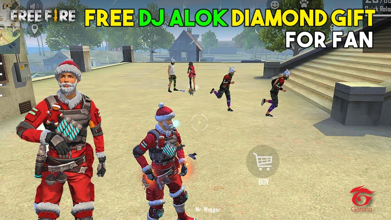 Free Diamond DJ Alok Gift For Ajjubhai Fan Must Watch Gameplay - Garena Free Fire