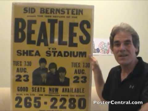 Beatles Concert Poster 1966 Shea Stadium