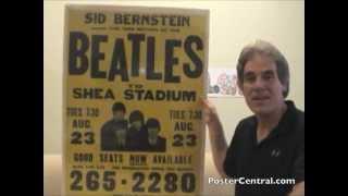 Beatles Concert Poster 1966 Shea Stadium - Authentic, Not a Bootleg