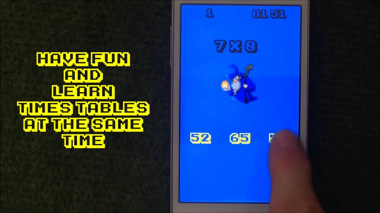 Pixel Math times tables mobile application - YouTube