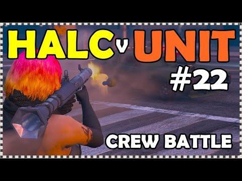HALC (12) v (9) UNIT 22, CREW BATTLE  (( GTA 5 ONLINE PS4 ))