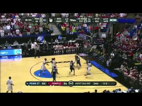 2011 NCAA Tournament - #7 Temple Knocks Down Floater With 0.4 Seconds to Beat #10 Penn State