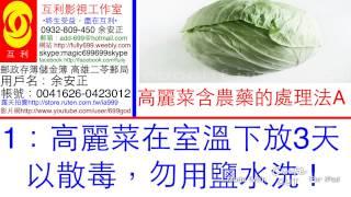 高麗菜含殘留農藥處理法1