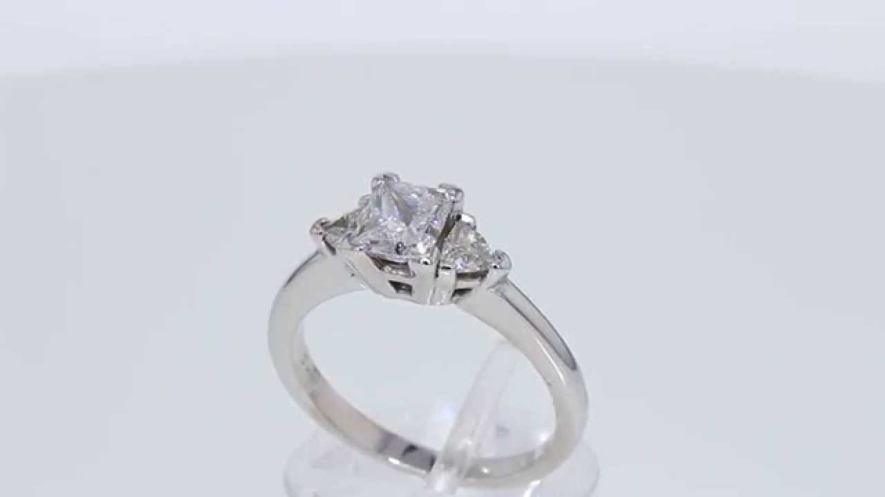 1 19CT Princess Diamond Engagement Ring Cert Appr $5K Price $2 495