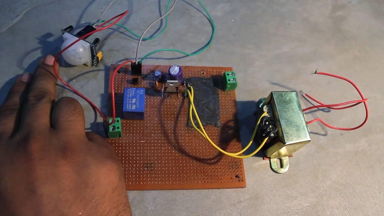 Automatic light sensor for bathroom - Automatic Washroom Light Tutorial Using Pir Sensor