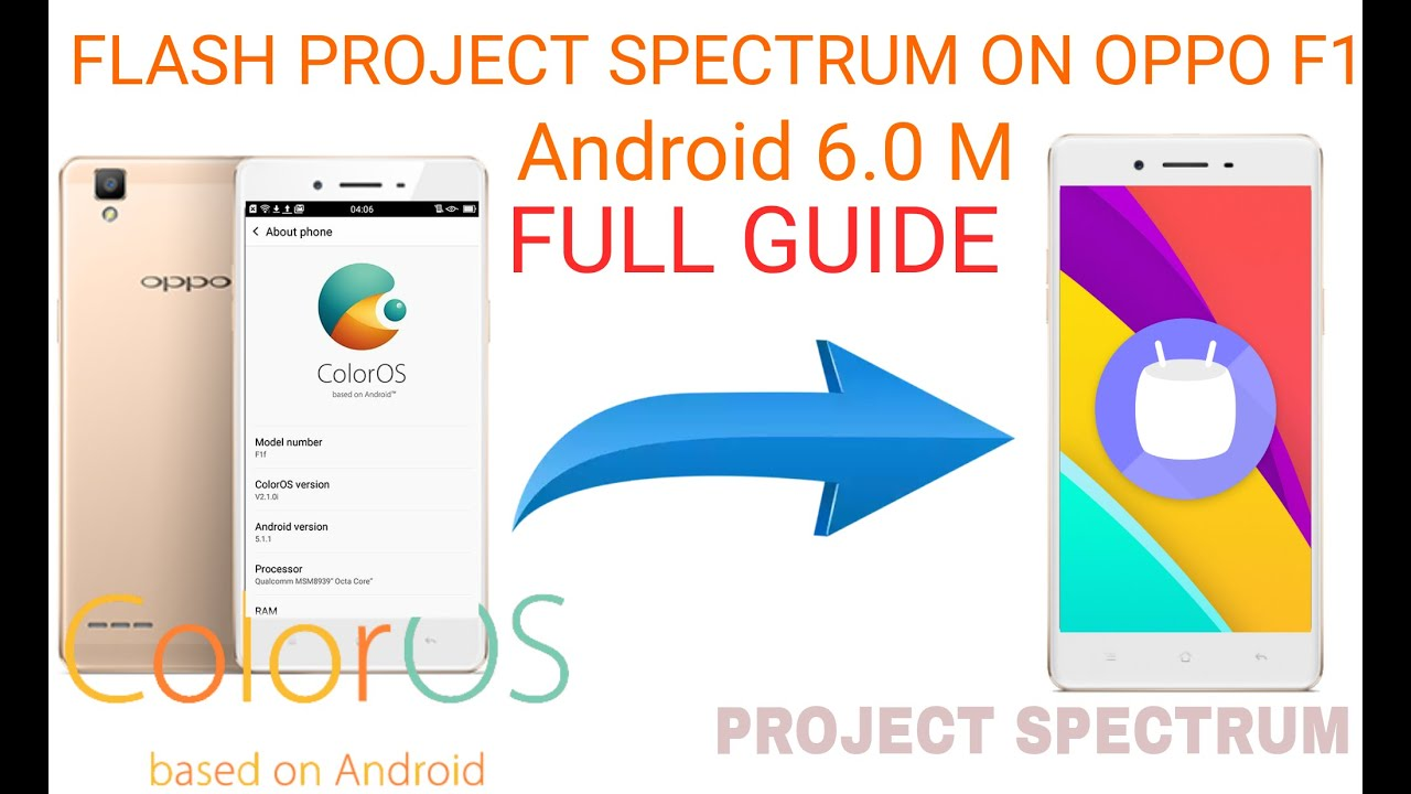 Flash Project Spectrum Android 60 On Oppo F1[how To] Full Guide