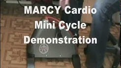 MARCY Cardio Mini  Cycle Exercise Demonstration and Review