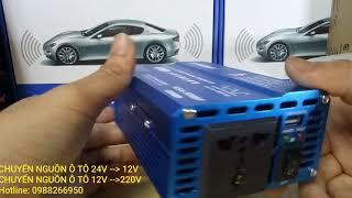 Chuyển ngồn ô tô 24v-12v, chuyển nguồn 12v-220v, chuyển nguồn ô tô 24v, bộ chuyển đổi nguồn ô tô 12v