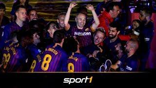 FC Barcelona: Andres Iniesta feiert emotionalen Abschied | SPORT1 - DER TAG