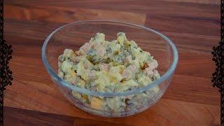 Salat Olivie nach eigener Art/ Салат Оливье неоригинальный без яблока и моркови (russian food)