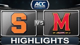 Syracuse vs Maryland | 2014 ACC Basketball Highlights
