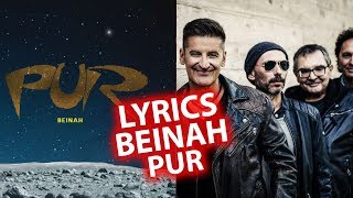Beinah LYRICS | Songtexte zu PUR | Lyric (animiert) HD