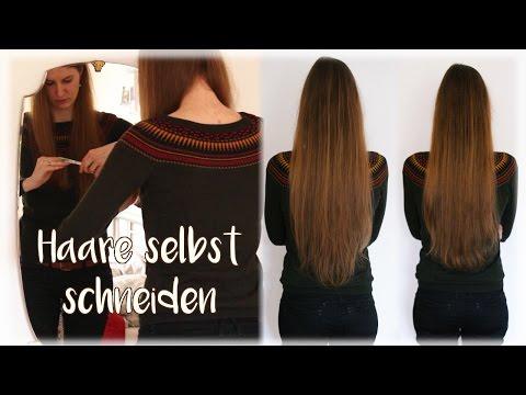 Lange Haare selber schneiden mit Heike von Haselnussblond