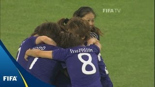 Eventual champions Japan celebrated Karina Maruyama's shock goal th...