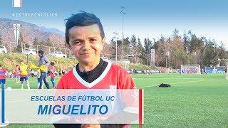 Miguelito fue la figura de la clase de Escuela Fútbol UC