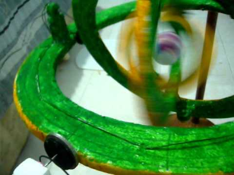 Atomo Maqueta Con Movimiento Real Youtube