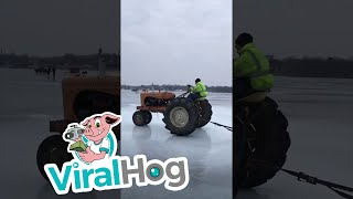 Ice Skating on a Comfy Couch || ViralHog