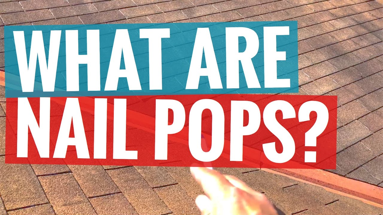 What Are Roof Nail Pops San Antonio Rox Roofing Youtube