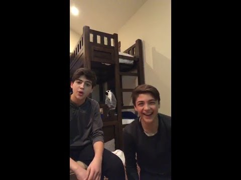 Joshua Rush, Asher Angel Instagram live stream part 1 / 20 January 2018