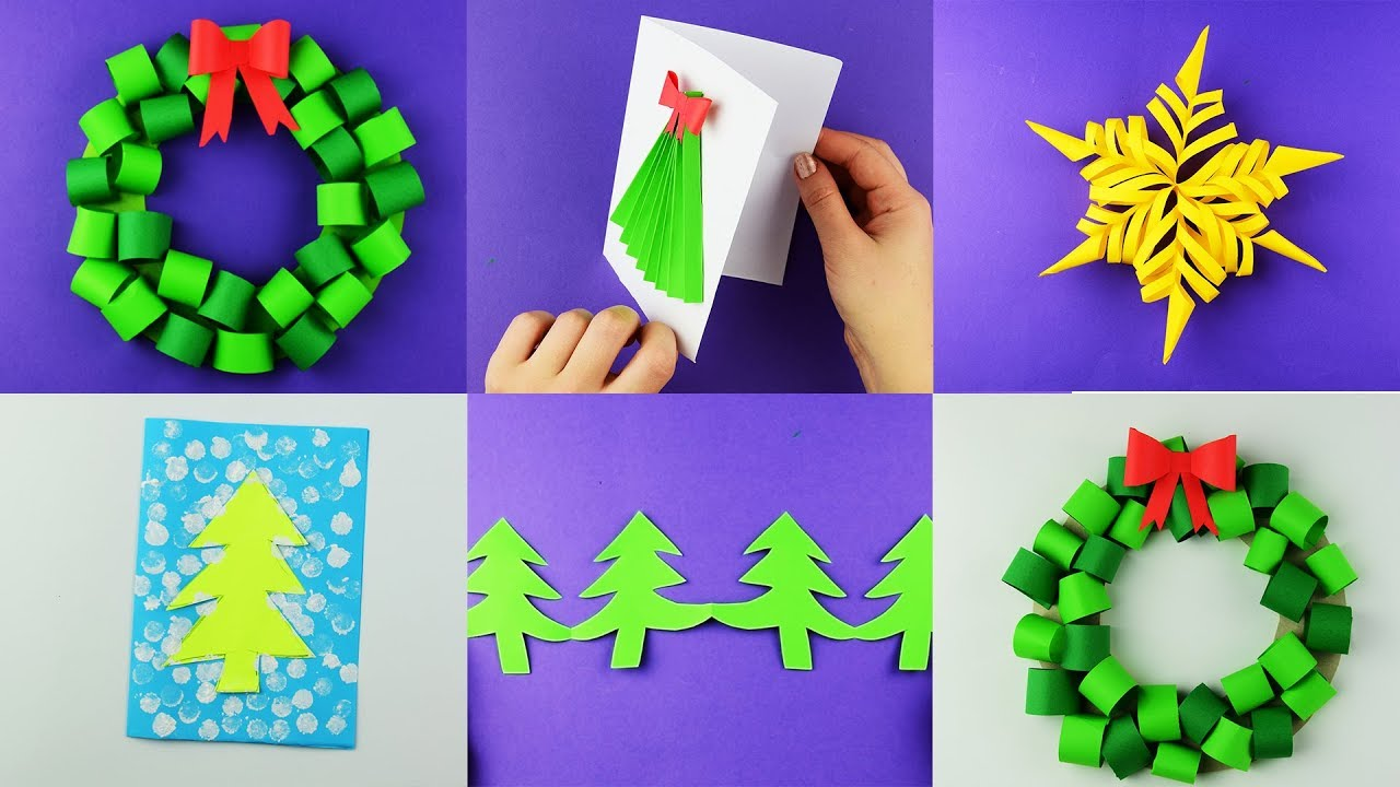 5 simple Christmas craft ideas with paper easy. Home ...