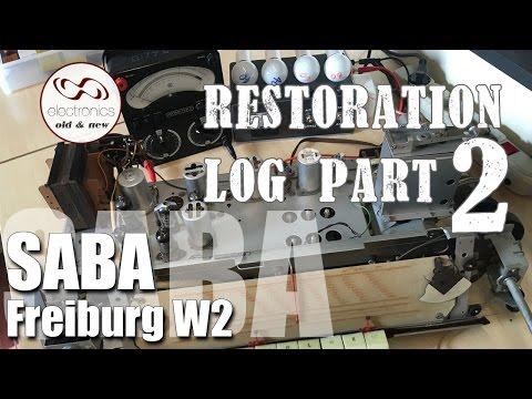 Saba Freiburg W2 Restoration  - Part 2. First power up and voltage measurements.