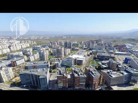 Business Park Sofia aerial video
