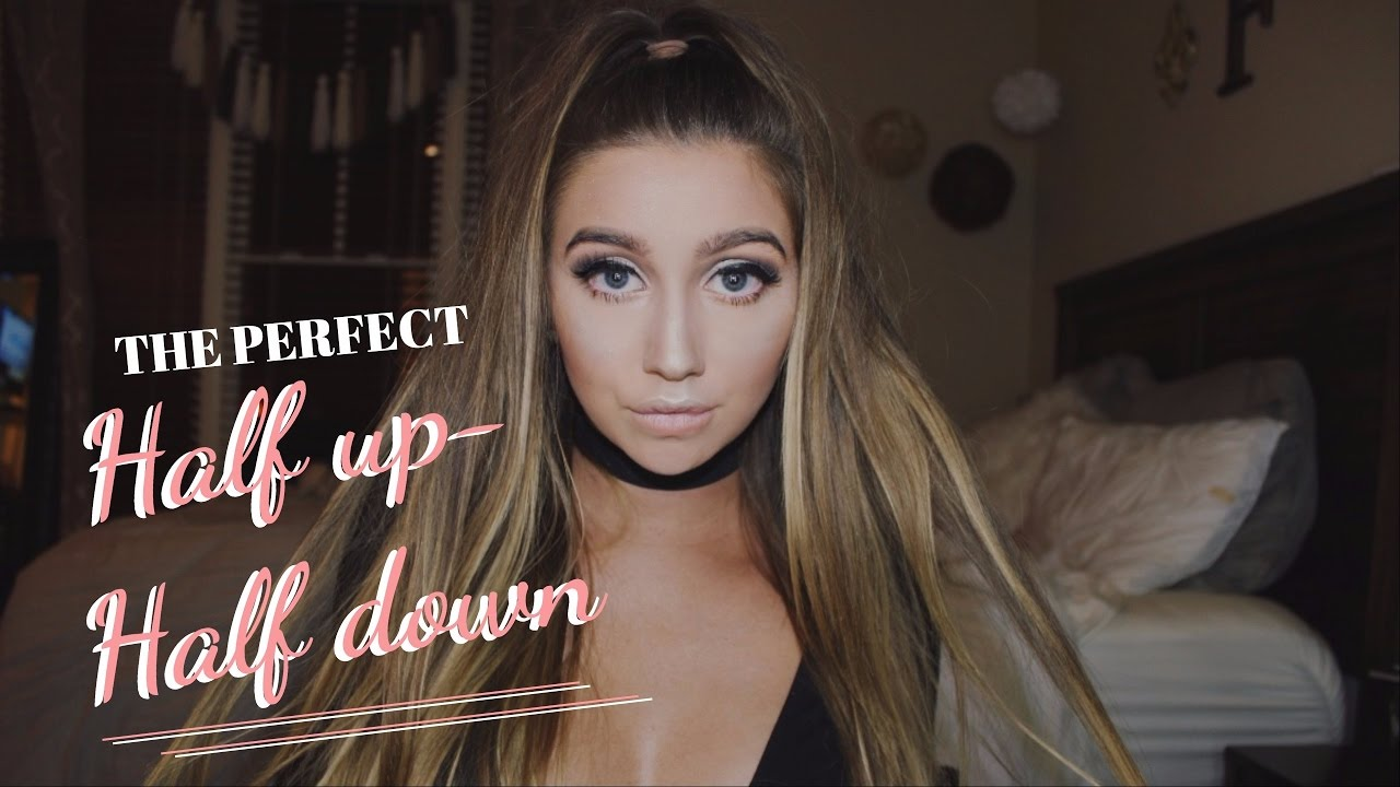 The Perfect Half Up Half Down Hair Youtube