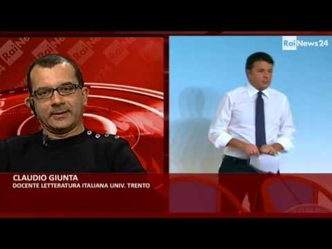 Essere #matteorenzi - Intervista a Claudio Giunta