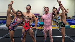 Men try Rhythmic Gymnastics! {COUPLES CHALLENGE} | Nile Wilson