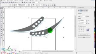 Membuat Asuma Blade dengan Coreldraw