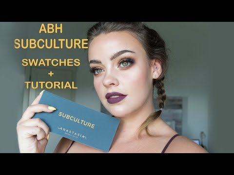 Anastasia Beverly Hills SUBCULTURE Palette | Tutorial + Swatches | Julia Adams