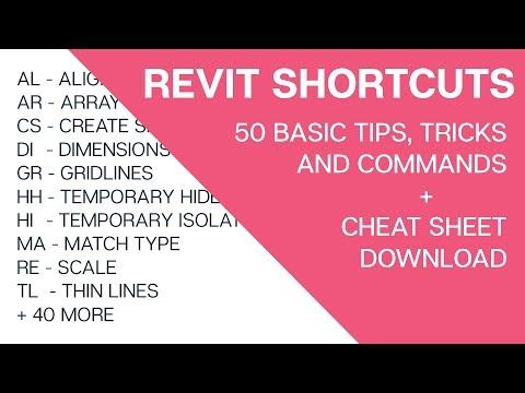 Revit Shortcuts: 50 Basic Tools and Commands