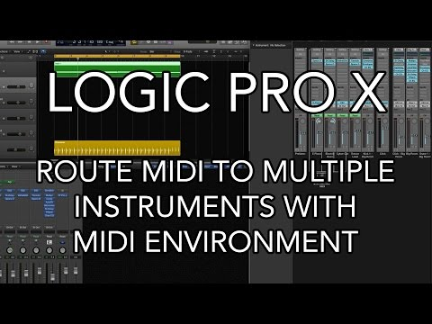 Logic Pro X Route Midi To Multiple Instruments With Midi