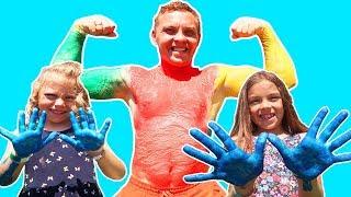 Ne jucam cu VOPSELE pentru DEGETELE   Learn Colors with Finger Paints