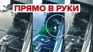 В Новокузнецке пенсионерка поймала выпавшего из окна ребёнка — видео