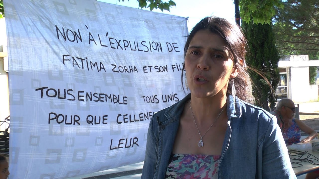 Soutiens contre l'expulsion de Fatima Zorha et de son fils
