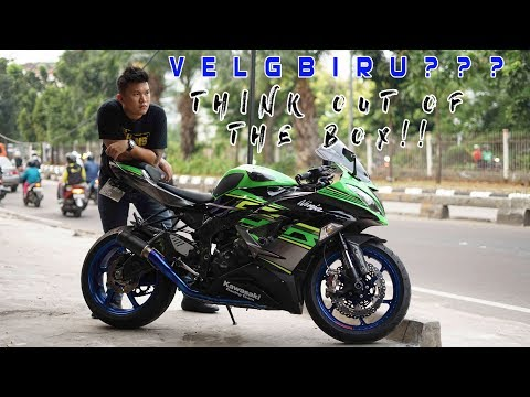 VELG BIRU MOTOR HIJAU? THINK OUT OF THE BOX! | KAWASAKI ZX636 2018 LIVERY WITH BLUE OZ RACING RIMS